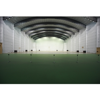Tontaubenhalle in Germany. 3000 square meters and currently equipped with 26 throwing machines.